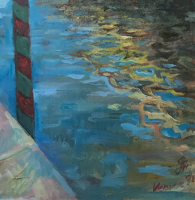painting of Venice waterway